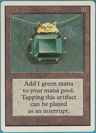 Mox Emerald Unlimited Heavily Pld Artifact Rare Magic Mtg Card (33451) Abugames