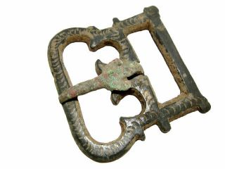 Extremely Rare Roman Military Bronze Belt Buckle,  As Found