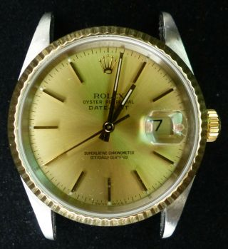 Vintage Rolex Oyster Automatic Men Watch Ref.  16233 And Paper