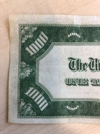 RARE 1934 $1000 One Thousand Dollar Bill Federal Reserve Note Low serial 10