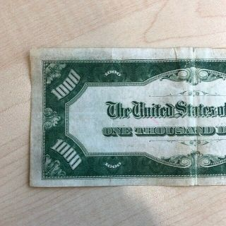 RARE 1934 $1000 One Thousand Dollar Bill Federal Reserve Note Low serial 4