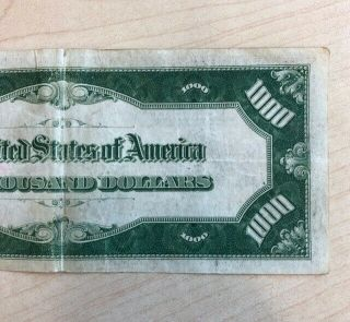 RARE 1934 $1000 One Thousand Dollar Bill Federal Reserve Note Low serial 5