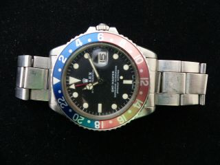 VINTAGE ROLEX GMT - MASTER AUTOMATIC MEN WATCH REF.  1675 9