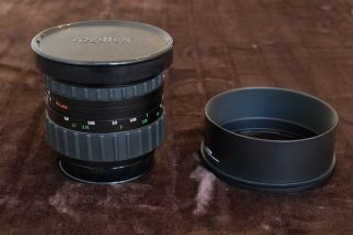 RARE Rollei Zeiss Planar 110mm f2 HFT PQ Lens & Both caps & Metal hood 2