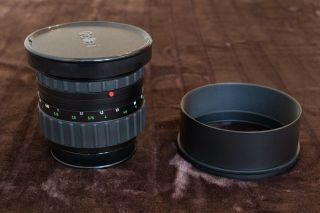 RARE Rollei Zeiss Planar 110mm f2 HFT PQ Lens & Both caps & Metal hood 3
