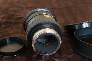 RARE Rollei Zeiss Planar 110mm f2 HFT PQ Lens & Both caps & Metal hood 8