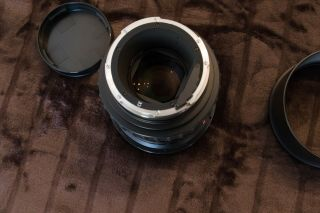 RARE Rollei Zeiss Planar 110mm f2 HFT PQ Lens & Both caps & Metal hood 9