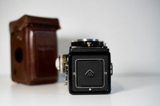 RARE Rolleiflex 3.  5 F White Face 12/24 with meter,  caps,  case 3