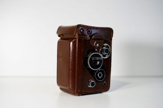 RARE Rolleiflex 3.  5 F White Face 12/24 with meter,  caps,  case 6