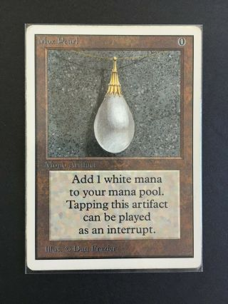 Magic The Gathering Mox Pearl Unlimited Vintage Mtg Rare Power 9