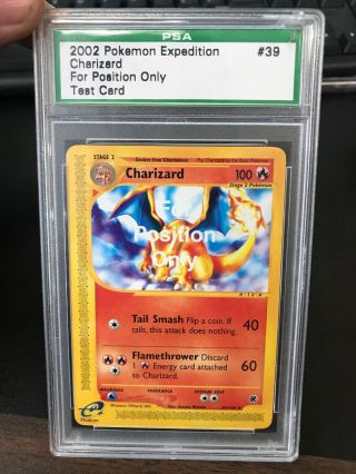 Charizard Fpo Test Card Psa Encased Insanely Rare 39