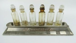 Early Rare Guerlain Champs Elysees Art Deco Metal & Bottle Tester Store Display