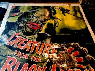CREATURE FROM THE BLACK LAGOON CARLSON ADAMS - LARGE MOVIE POSTER Rare 3