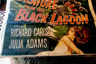 CREATURE FROM THE BLACK LAGOON CARLSON ADAMS - LARGE MOVIE POSTER Rare 5