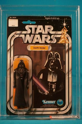 Star Wars Afa 85 Darth Vader Sku On Figure Stand 12 Back A - Vintage Moc Carded