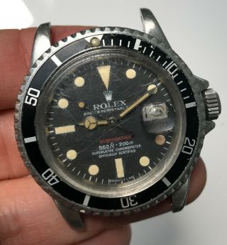 "1972 Vintage Rolex Red Submariner Ref.  1680 "" Mk5 Dial """