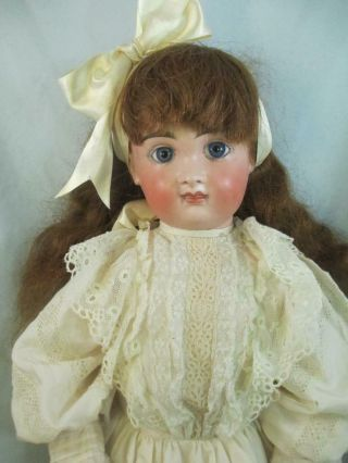"""Antique German Bisque Doll Size 14 Early Kestner Closed Mouth Round Face 24 """""""