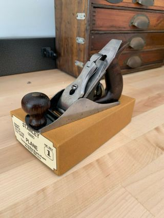 RARE Vintage STANLEY USA No.  1 Smooth Plane (Minty) PLUS. 4