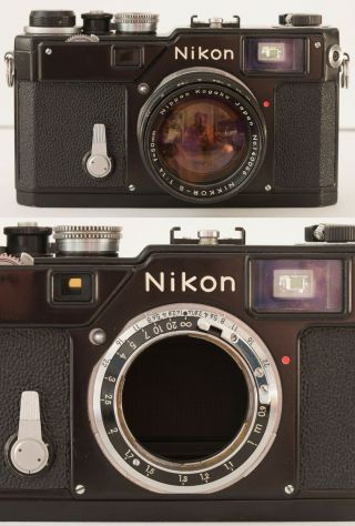 Vintage Black Nikon S3 Olympic Rangefinder Camera With 50mm F1.  4 Lens