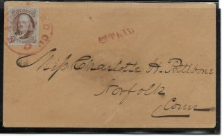 Us 5c 1847 Rare Magenta Cds Pointing Hand Cover
