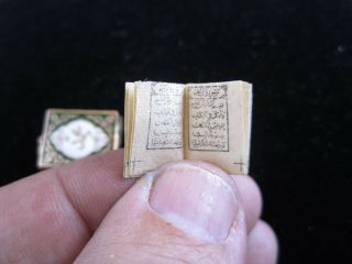 Rare 18k Solid Gold Islamic Ottoman Quran Pendant Charm With Real Quran Inside