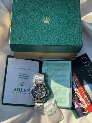 Vintage Rolex 1680 Submariner 1979/80 Wallet And Papers