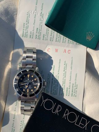 Vintage Rolex 1680 Submariner 1979/80 Wallet And Papers 5