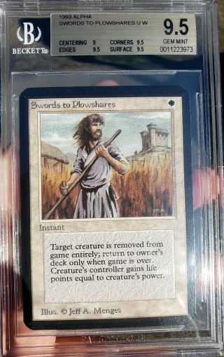 Vintage Magic | Mtg Bgs 9.  5 Alpha Swords To Plowshares,
