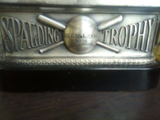 1931 Spalding Metal Vintage Baseball Trophy Jigger Champ Syracuse University? 10