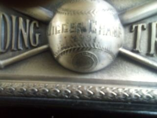 1931 Spalding Metal Vintage Baseball Trophy Jigger Champ Syracuse University? 3
