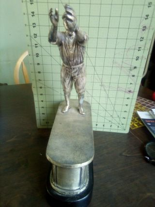 1931 Spalding Metal Vintage Baseball Trophy Jigger Champ Syracuse University? 6