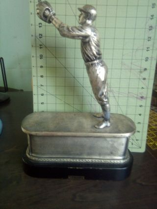 1931 Spalding Metal Vintage Baseball Trophy Jigger Champ Syracuse University? 9