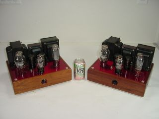 2 Vintage Valve Art 300b Gz37 Ck5694 Homebrew Matched Mono Tube Amplifier Pair