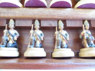 Anri - Frederick the Great - - handmade chess set - - Vintage Allan Troy Chess Set 8