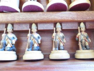 Anri - Frederick the Great - - handmade chess set - - Vintage Allan Troy Chess Set 9