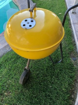 Vintage Weber Kettle Grill - Yellow Webber Ranger - Very Rare / Collectors