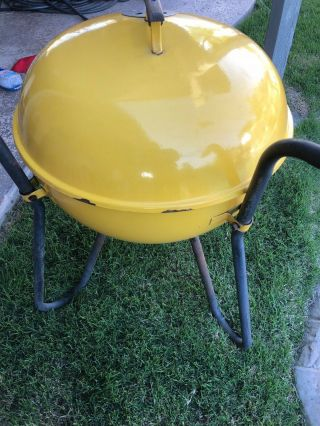 VINTAGE Weber Kettle Grill - Yellow Webber RANGER - Very RARE / Collectors 2