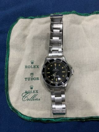 Rolex Submariner Vintage Automatic Dive Watch Ref 1680 Circa 1970s