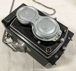 Vtg F&h Rollei Rolleicord Camera Dbp Dbgm 1:3.  5 75mm Lens Shutter Fires Germany