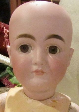 """28 """" Antique Closed Mouty Pouty Marked 128 Kestner Doll,  Perfect Bisque"""
