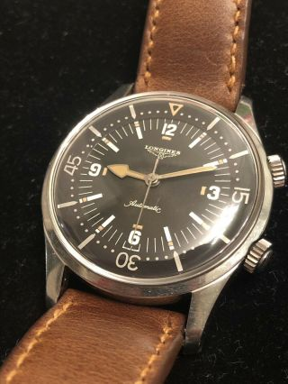 Vintage Longines Legend Diver 7150 - 1 Unpolished 1960s Rare Watch