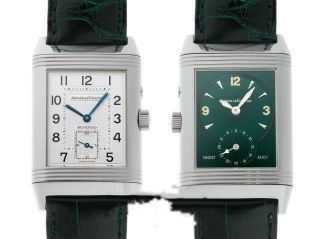 Jaeger - Lecoultre Reverso Duo Day & Night Watch Ref 270.  8.  54 Silver Green Rare