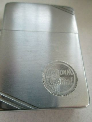 Zippo Lighter Brushed Chrome Pre1946 National Carbine Never Struck Vintage
