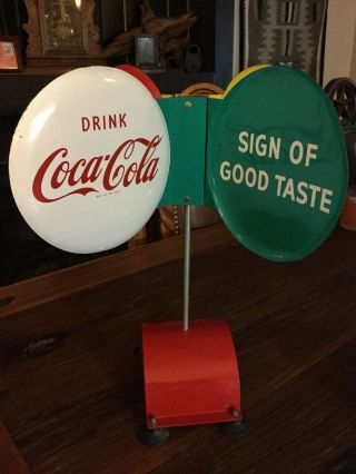 Coca Cola Spinner Sign - Very Rare