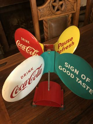 Coca Cola Spinner Sign - Very RARE 2