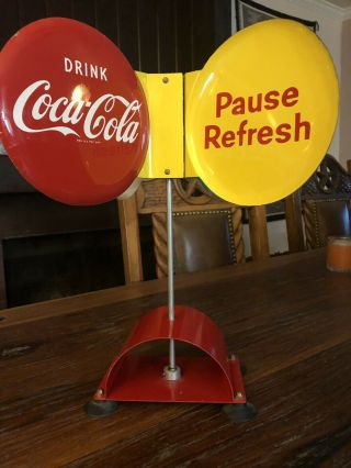 Coca Cola Spinner Sign - Very RARE 3