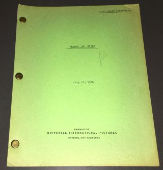 "Touch Of Evil (1958) Rare Orig.  "" Badge Of Evil "" Paul Monash First Draft,"