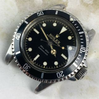 Vintage Rolex Submariner Dive Wristwatch Ref.  5513 RARE GILT SILVER EXCLAMATION 3