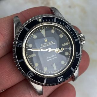 Vintage Rolex Submariner Dive Wristwatch Ref.  5513 RARE GILT SILVER EXCLAMATION 4