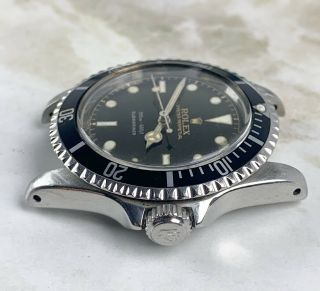 Vintage Rolex Submariner Dive Wristwatch Ref.  5513 RARE GILT SILVER EXCLAMATION 7